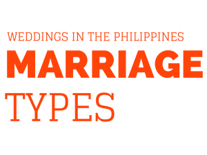 Wedding In The Philippines: Marriage Types